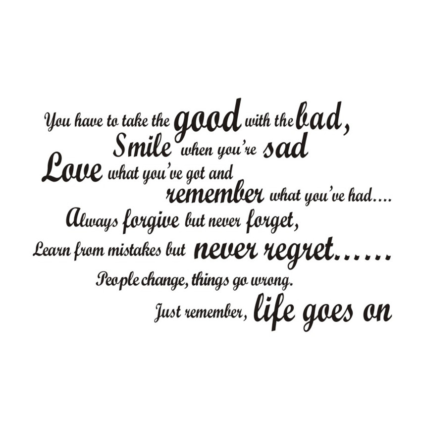 smile when you are sad living room wall decal art vinyl removable