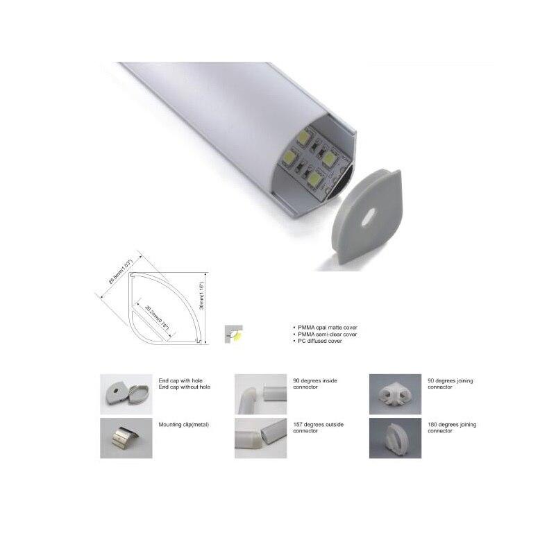 10x2 M Große Größe V Form Ecke Montieren Led Streifen Aluminium Profil, High Power Jumbo Aluminium Led Profil SchöNe Lustre