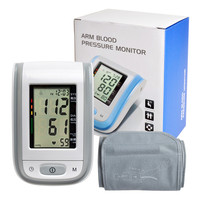 Intelligent Electronic Arm Blood Pressure Monitor Sound Sphygmomanometer Household Heart Pressure Monitor Medical Equipment B64