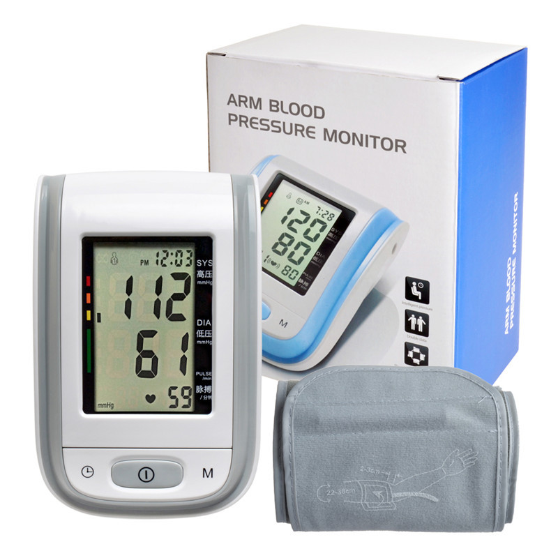 Intelligent Electronic Arm Blood Pressure Monitor Sound Sphygmomanometer Household Heart Pressure Monitor Medical Equipment B64