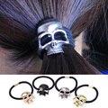 Хэллоуин Ретро панк Gothic Metal череп волосы галстук мода птицы ворона череп резинки для волос - фото