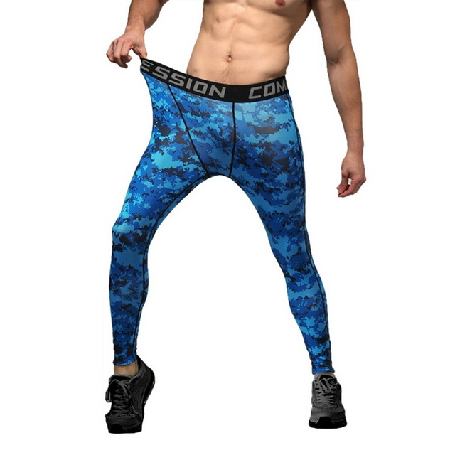 a6e3a21b4a49d6 Laamei Fitness Men Autumn Casual Tights Printed Jogger Pants Casual Leggings  Compression Sportswear Plus Sizes Slim Fit Trousers