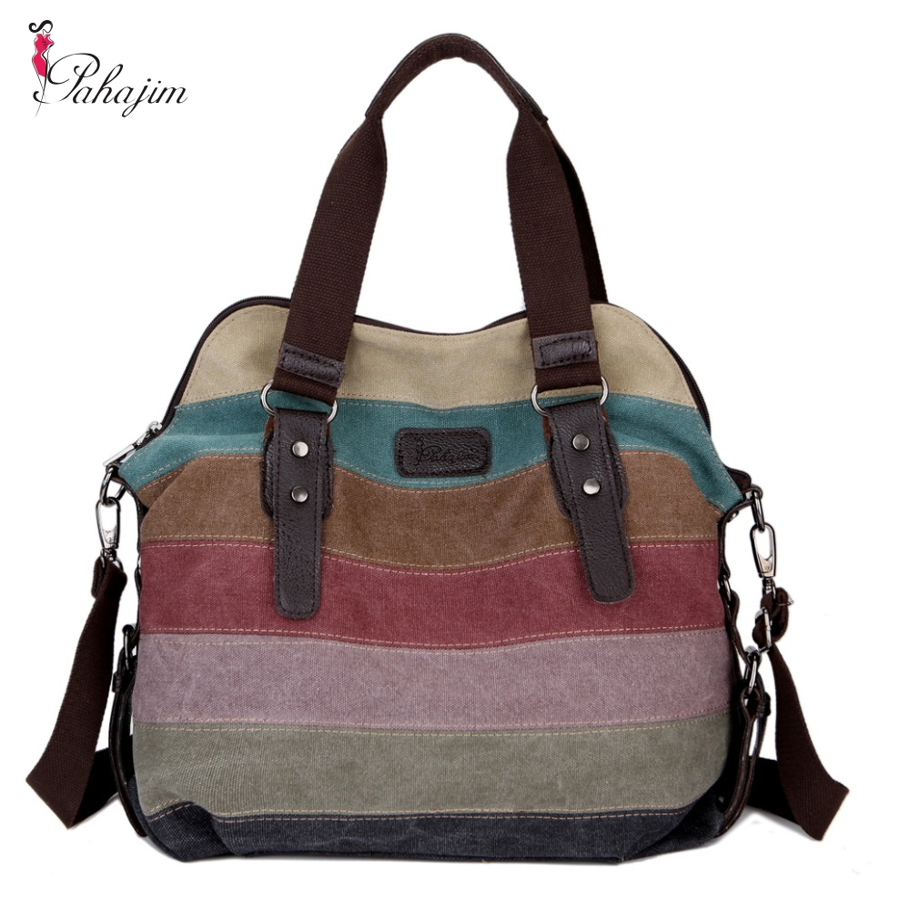 Canvas portable fashion handbags <font><b>2018</b></font> new Korean <font><b>women</b></font> <font><b>shoulder</b></font> Messenger <font><b>bag</b></font> <font><b>big</b></font> <font><b>bag</b></font> hit the color image