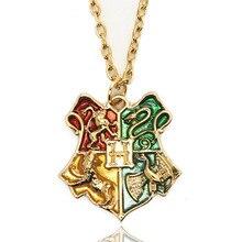 10PCS /Lot Harry Potter Necklace Anime Hogwarts Faculty Badge Pendant  Necklace Harry Potter Hogwarts Badge Pendant Necklace