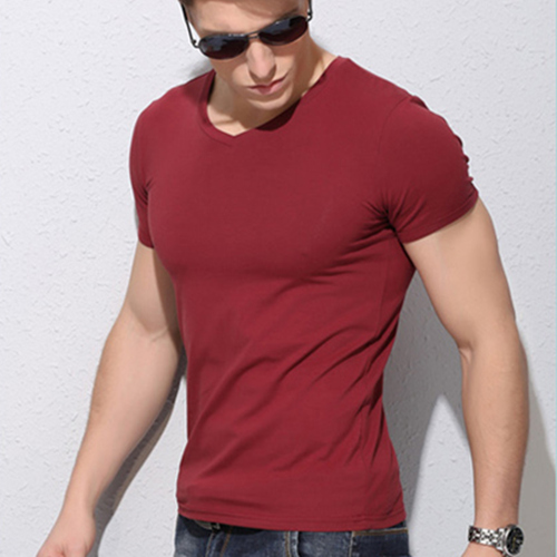 red t shirt men style