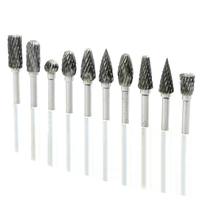 10pcs Tungsten Mini Drill Bit Set Carbide Burs Dental Burs Set Tungstenio Tungsten Dental Sharpening 6mm