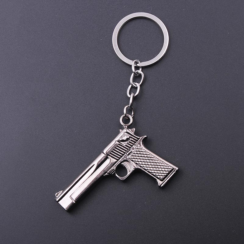 1PC Game Player Unknown's Battle Grounds PUBG Pendant Keychain Gun Keychain Body Armor Key Chains Car Keyring Men Gift