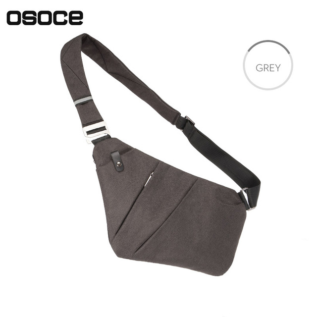 Ultra Slim Gun Shape Messenger Bag Sling Shoulder Crossbody Chest Bags  Anti-theft Casual Bag for iPad Mini Phone Cards B13 bf71a87a52290