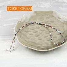 Toketorism vintage acrylic beads eyeglass chain sunglasses accessories womens glasses strap neck cord TM32