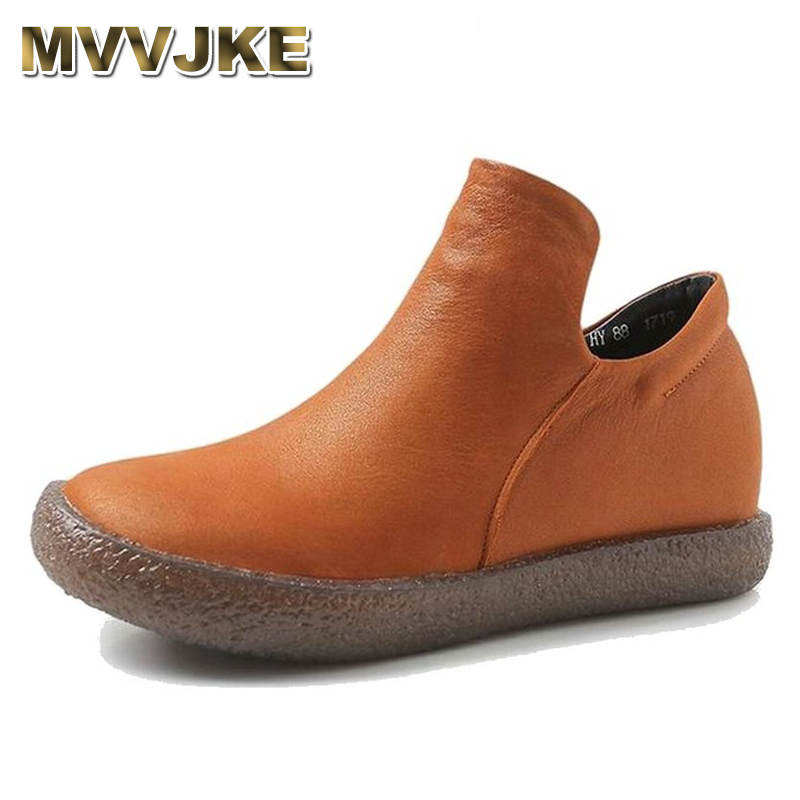 MVVJKE   Women Winter Boots New Arrival Genuine Leather Snow Boots short Plush Warm Ankle Boots Casual Flats Shoes female winterMVVJKE   Women Winter Boots New Arrival Genuine Leather Snow Boots short Plush Warm Ankle Boots Casual Flats Shoes female winter