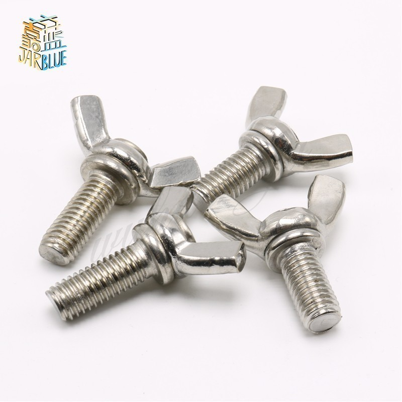 Wing Thumb Hand Nuts M8 A2 304 Stainless Steel - QTY 10 8mm