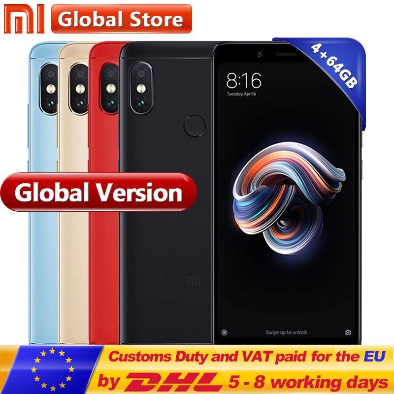 Original versión Global Xiaomi Redmi Nota 5 4 GB 64 GB Snapdragon S636 Octa Core teléfono móvil 5,99