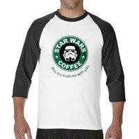 2017 Funny Graphic Funny Starwar Green Darth Vader Logofunny Raglan Sleeve T Shirt Men