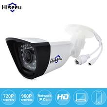 Hiseeu 720 P 960 P 1,3-МЕГАПИКСЕЛЬНОЙ 1.0MP Семья Безопасности Пуля Ip-камера POE ONVIF ИК-CUT Ночного Видения P2P Дистанционного Бесплатно доставка HBA
