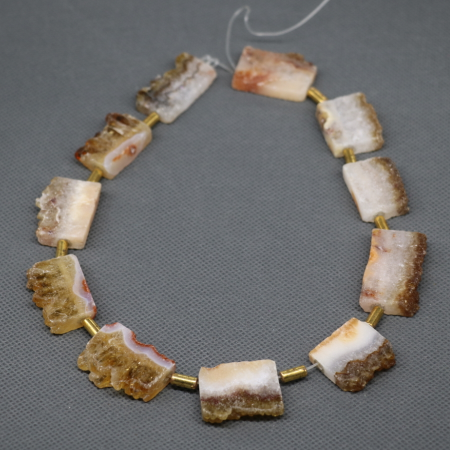 Top Drilled Topaz Quartz Crystal Druzy Drusy Quartz Crystal Beads Dyeing Necklace Gift Items Fashion Gem