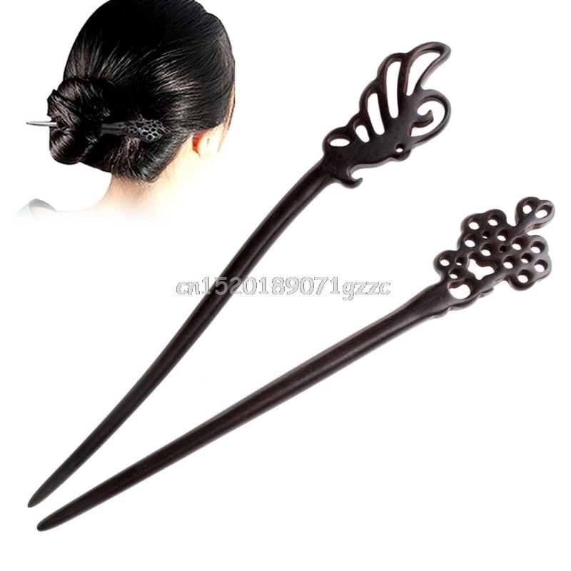 las mujeres de la vendimia accesorios para el cabello pin mariposa hecha a mano de madera