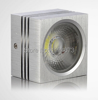 Free Shipping 9W Square Recessed Light High Lumens 95 100LM W COB LED Downlight AC85 265V