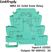 MRA-48D3 10pcs Programmable Solid State Relay 3A Ultra Slim 6.2mm Input: 3V 5V 12V 24V 32V DC Interface SSR Module
