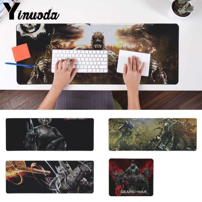 Yinuoda Funny Gears of war Game Computer Gaming Mousemats Size for 180*220 200*250 250*290 300*900 and 400*900*2mm