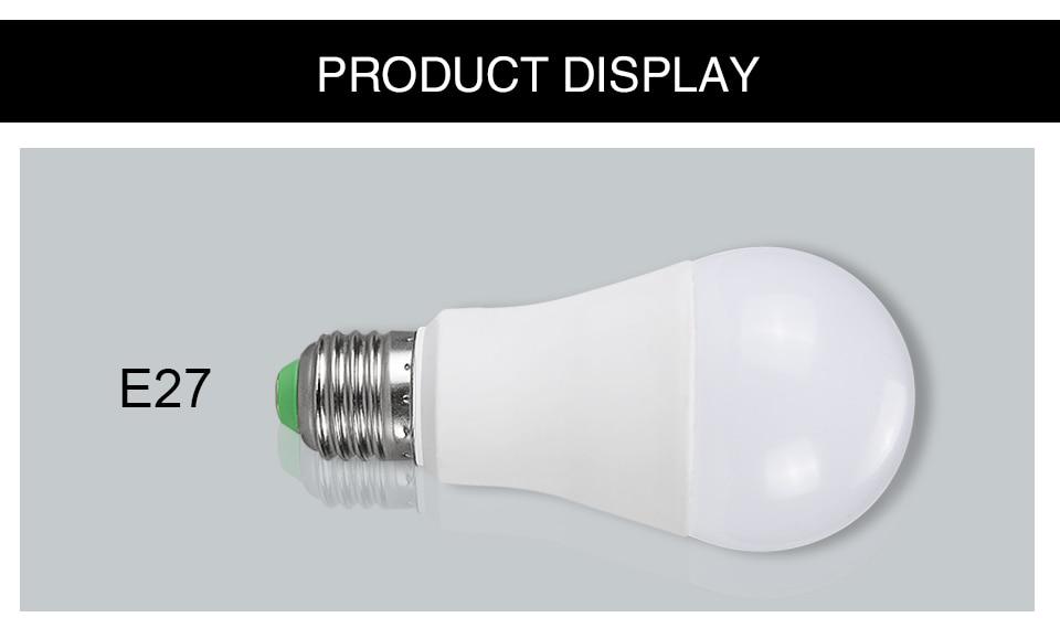 85-265V E27 LED Lamp RGB 15W Bluetooth APP Wifi Control Smart Bulb 10W RGBW RGBWW Light Bulb IR Remote Control Home Lighting (25)