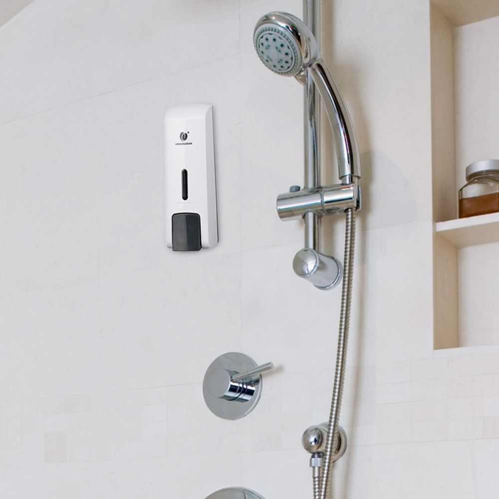 Dozownik mydła w płynie ręczny prysznic toaletowy pokój dozownik do mydła ściany pompa żel pod prysznic pojemnik na szampon mydło w płynie dozownik