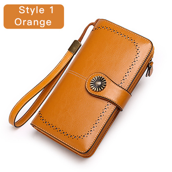 Vintage Style Split Leather Women's Wallet Bags and Wallets Hot Promotions New Arrivals Women's Wallets Color: Style 1 Yellow Ships From: Russian Federation