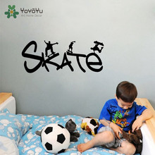YOYOYU Skate Vinyl  Wall Sticker Sport Removeable Decal Skateboard Harry Potter Quotes Room Decoration Poster ZX006