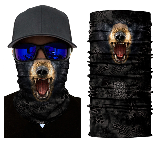 BJMOTO Sun Mask Skull Face Shield Balaclava Motorcycle Outdoor Hunting Face Mask Headwears Balaclava Magic 3D Skull Bandanas