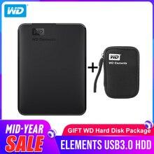 Жесткий диск Western Digital WD элементы Портативный жесткий диск 1 ТБ 2 ТБ 4 ТБ внешний hdd 2,5 дюймов USB 3,0 жесткий диск оригинал для портативных ПК