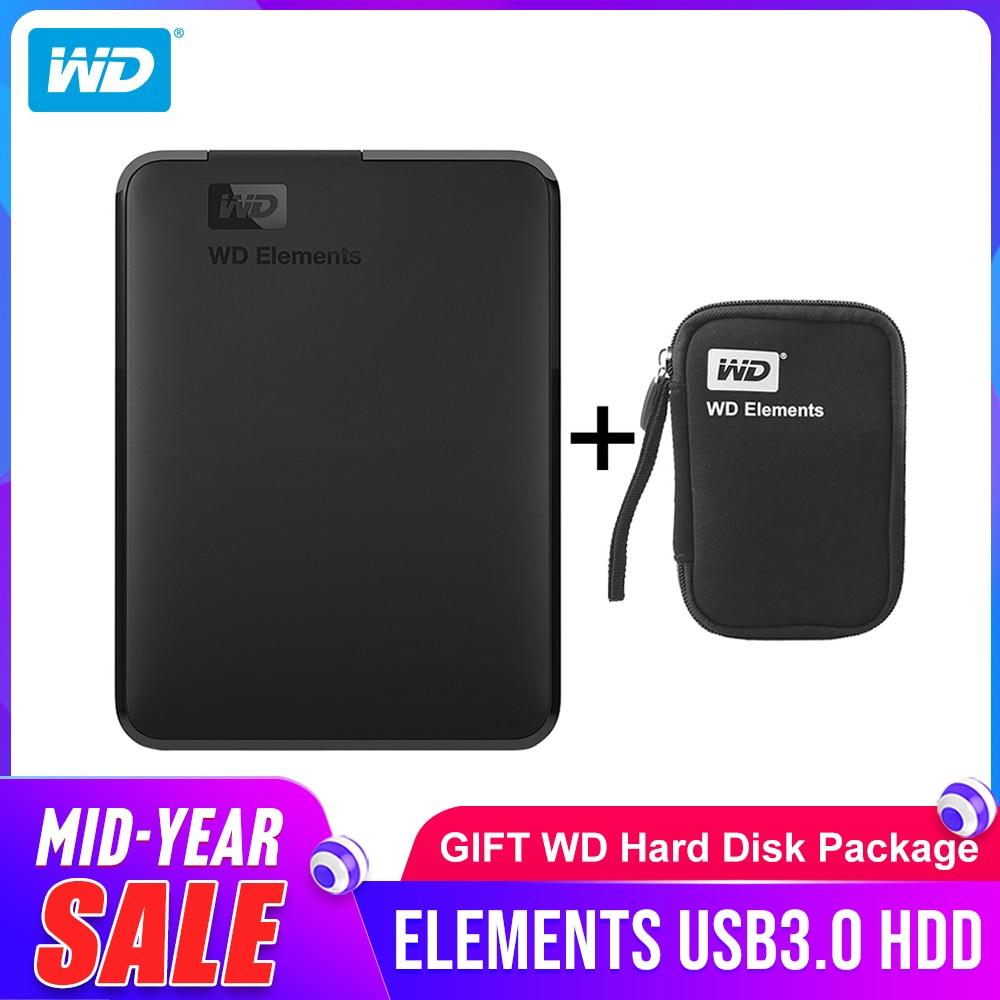Western Digital WD Elements disque dur Portable 1 to 2 to 4 to disque dur externe hdd 2.5 pouces USB 3.0 disque dur Original pour PC Portable