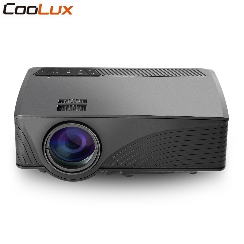 Coolux GP-12 LCD Projector 800x480 Pixels 2000 Lumens 3D Video Support 1920 x 1080 for Home Theater Player Proyector image