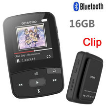 Newest Clip Bluetooth MP3 Player 8gb with Screen Sport Music Player Support FM Radio,Recording,Pedometer + Free Gift Armband(China)