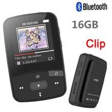Yeni klip Bluetooth MP3 çalar 8gb ekran spor müzik çalar desteği FM radyo, kayıt, pedometre + ücretsiz hediye kol bandı