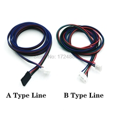 Stepper Motor cable DuPont  line XH2.54 4pin 100cm 1 Meter to Black White Terminal Line for Stepper Motor 3D printer
