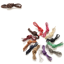 New 8 Colors Waxed Coloured Shoelaces For Leather Shoes Laces Round Strings Martin Boots Sport Shoes Cord Ropes 1Pair(China)