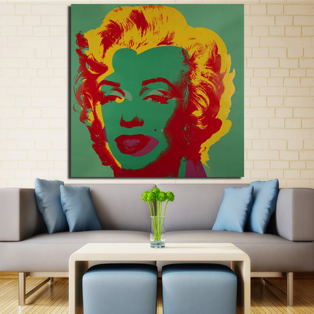 2017 Promotion Rushed Cuadros Andy Warhol Marilyn Monroe Wall Art Painting  Prints On Canvas No Frame Pictures For Living Room