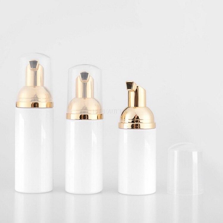 30 50 60 80ml cosmetic facial Cleanser wash cream Plastic pet white liquid soap Foam bottle