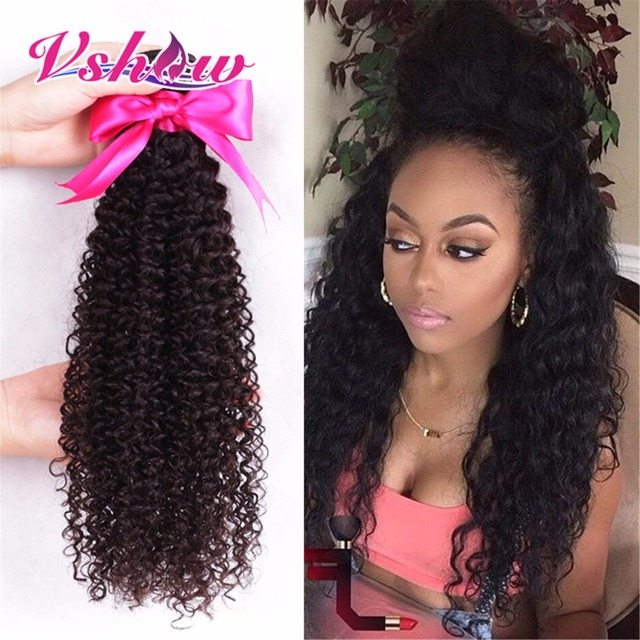 8A Brazilian Kinky Curly 3PCS Brazilian Virgin Hair Weaves V SHOW Brazilian Curly Virgin Hair Bundle Deals Human Hair Extension