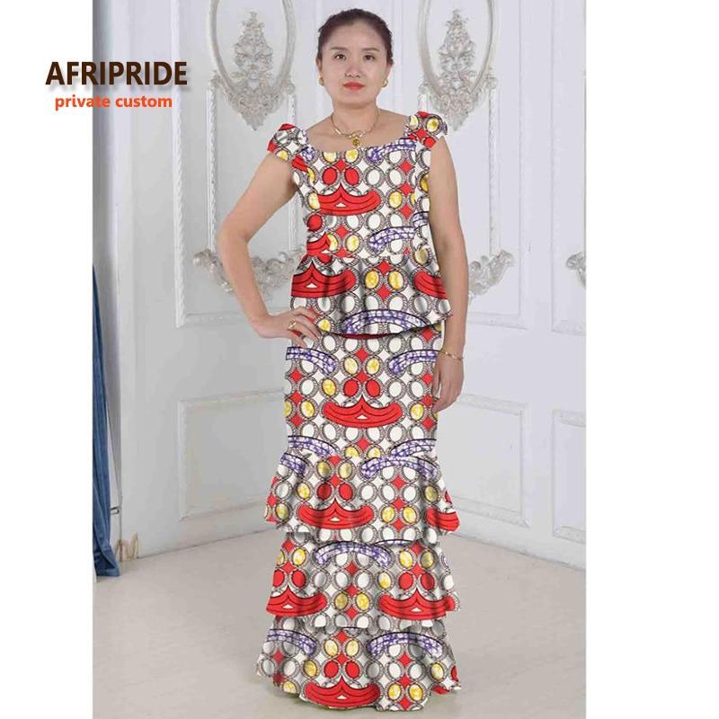 038224f694 Afrikai stílusok két darab torta ruha szett nőknek AFRIPRIDE ...