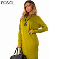 Long Sleeve Plus Size Women Loose Casual Office Dresses 5XL Big Size Long Bodycon Dress Red