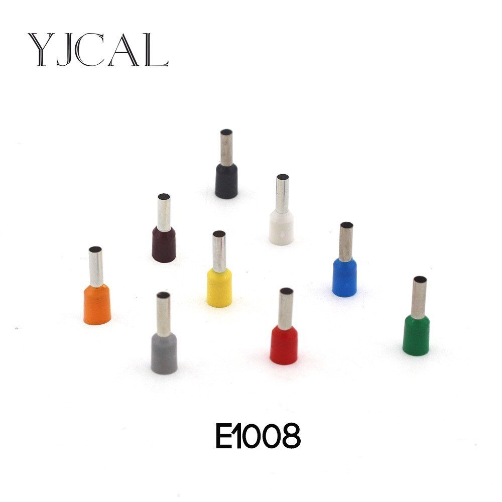 E1008 1000pcs Insulated Cord End Terminal Crimp Ferrules Crimping Terminals Tubular Wire Connector For 0 75mm2 in Terminals from Home Improvement