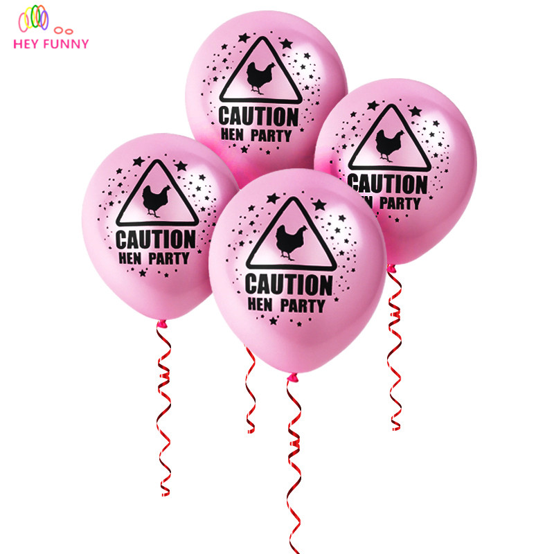 Hen Party Ideas For Small Groups: 20pcs/lot HEN PARTY Pink Ballon Bachelor Party Wedding