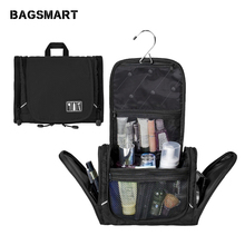 New Hanging Mens Travel Bag Black Organizer For Storage One Space Cosmetic Free Shipping