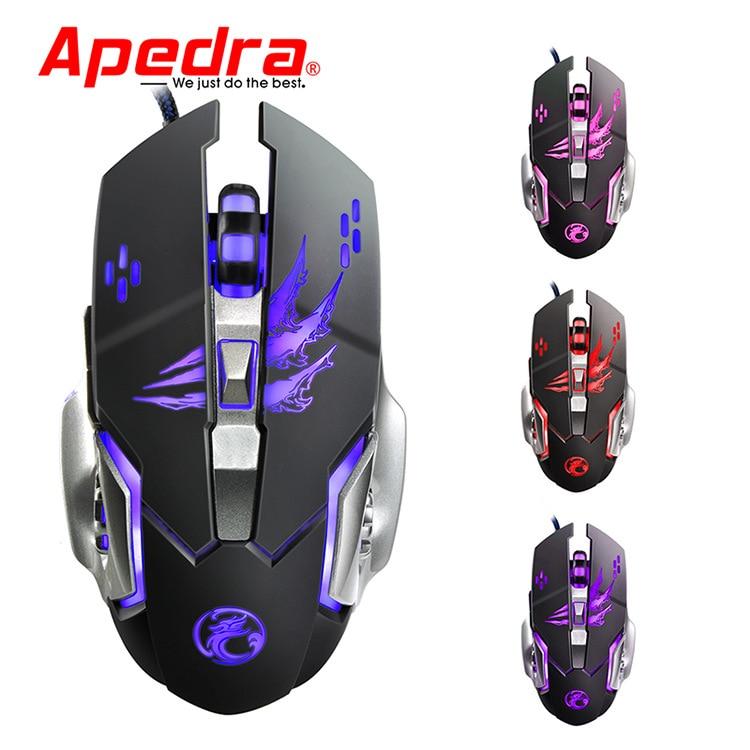 Ratón de juegos por cable profesional iMice, 6 botones, 3200 DPI, ratón óptico USB con LED, ratón de ordenador, ratón de juego, ratón silencioso para PC|Ratones|   - AliExpress