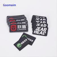 custom 3D rubber patch PVC Patch for germent labels Private name custom clothing DIY label for jeans bags