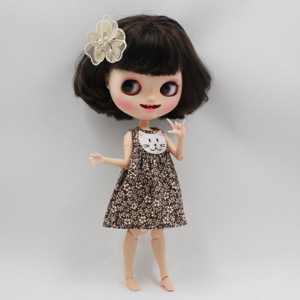 Neo Blythe Doll Floral Dress with Headdress 3