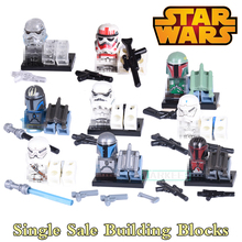1PC Star Wars Building Blocks Children Classic Models Bricks Super Heroes Avengers Red Stormtrooper White Soldier