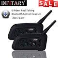 2pcs/pair 2 Bluetooth intercom HD binaural headset stereo music professional waterproof windproof power auto-answer the phone