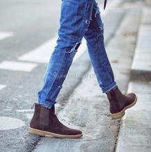 3ec4f6cb9909a Zapatos Hombre Chelsea Botas negro gris café deslizamiento en Botas de  tobillo primavera otoño Cowboy Zapatos Botas de moda de l.