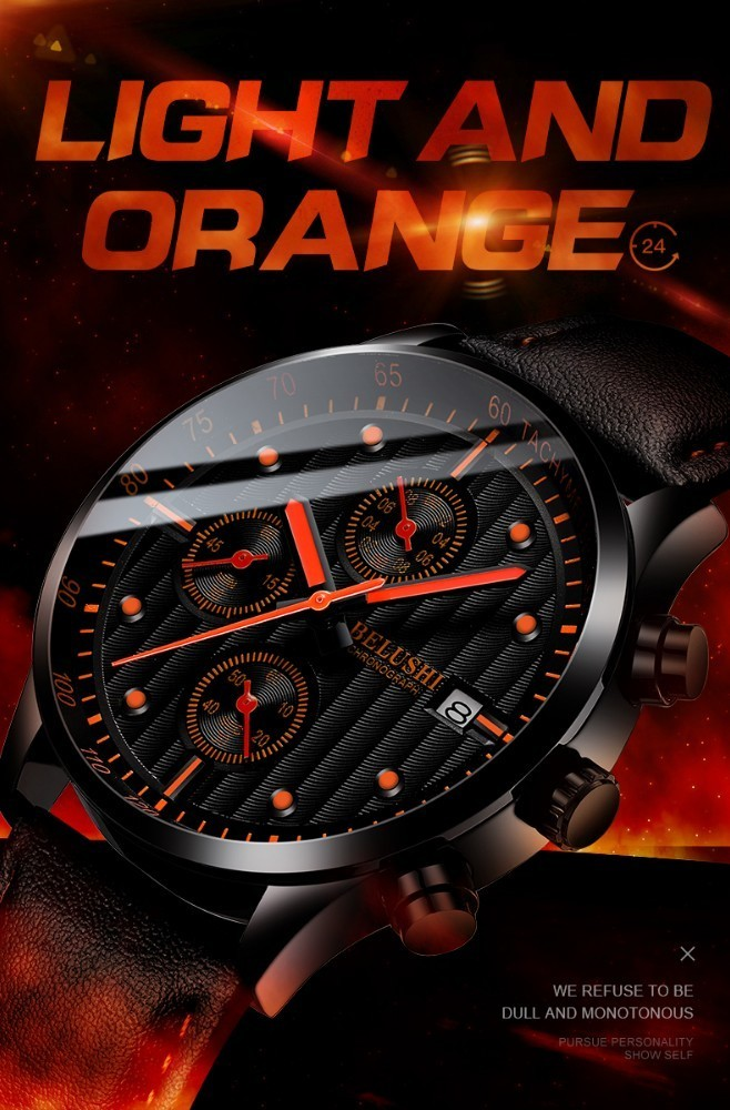 HTB1NUroaNrvK1RjSszeq6yObFXaz Luxury Men's Quartz Watch Sport Casual Wristwatch Men Military Watches Clock Man Leather Wrist Watch Date Waterproof 30M Relogio